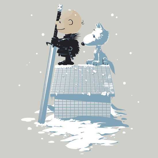 Game of Thrones Winter Peanuts TShirt