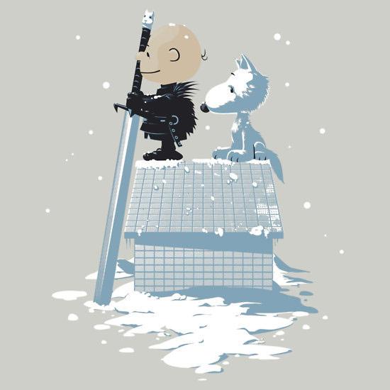 Game of Thrones Winter Peanuts TShirt