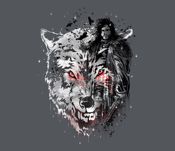 game of thrones winter wolf t shirt. Black Bedroom Furniture Sets. Home Design Ideas