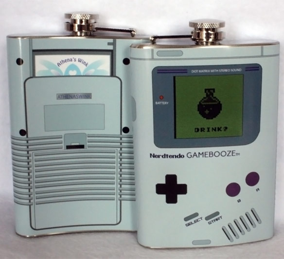 Gamebooze Nintendo Gameboy Flask