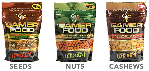 Gamer Food Caffeinated Energy Snack