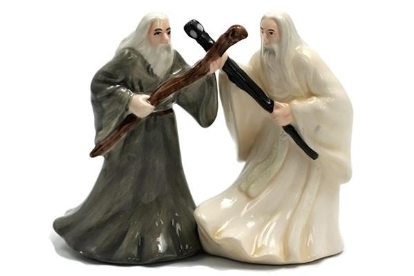 Gandalf and Saruman Salt and Pepper Shaker Set