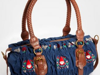 Garden Gnome Shirred Shoulder Bag