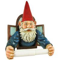 Garden Gnome Toilet Paper Roll Holder