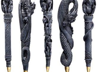 Gargoyles and Dragons Sculptural Pen Set