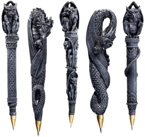 Gargoyles and Dragons Sculptural Pen Set