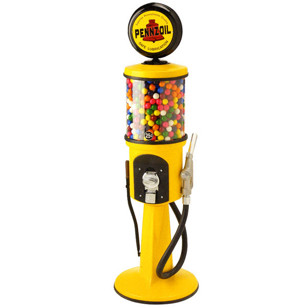 Gas Pump Gumball Machine