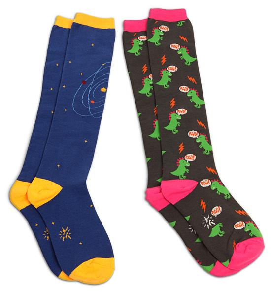 Geek Motif Ladies Knee Socks