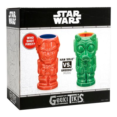 Geeki Tikis Star Wars Han Solo vs. Greedo Tiki Mugs