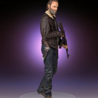 Gentle Giant The Walking Dead Rick Grimes Fourth Scal Statue
