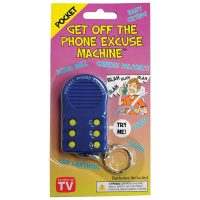 Get Off The Phone Excuse Machine Keychain