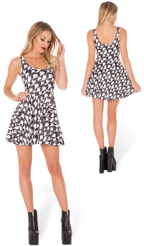 Ghost Scoop Skater Dress