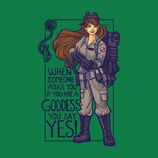 Ghostbuster Goddess Shirt