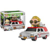 Ghostbusters 2016 Ecto-1 Vehicle with Jillian Holtzmann Pop Vinyl Figure 1