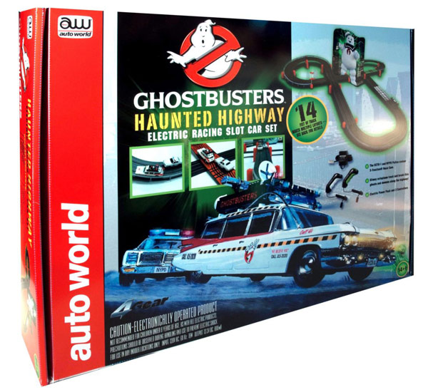 Ghostbusters Haunted Highway Electronic Slot Car Racing Set
