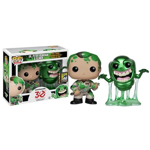 Ghostbusters Slimed Peter And Slimer Pop Vinyl Figures