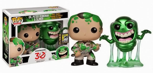 Ghostbusters Slimed Peter and Slimer Vinyl Figures