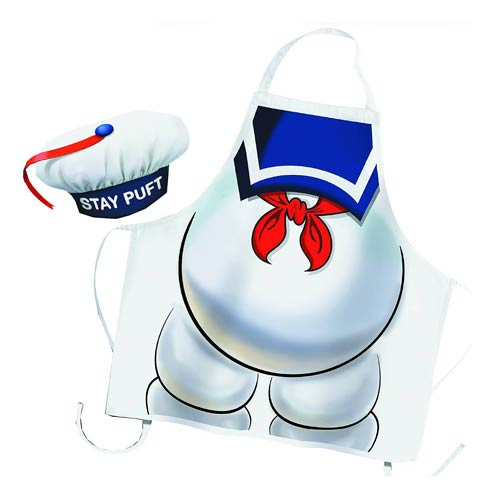 Ghostbusters Stay Puft Marshmallow Man Apron and Chef Hat