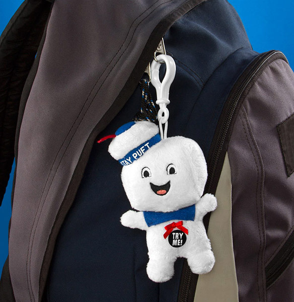 Ghostbusters Stay Puft Plush Clip On Toy