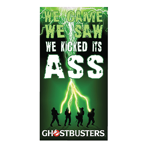 Ghostbusters We Came, We Saw, We Kicked Its Ass Beach  Bath Towel