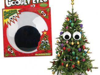 Giant Christmas Tree Googly Eyes