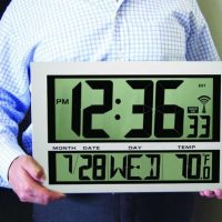 Giant Digital Atomic Wall Clock Thermometer