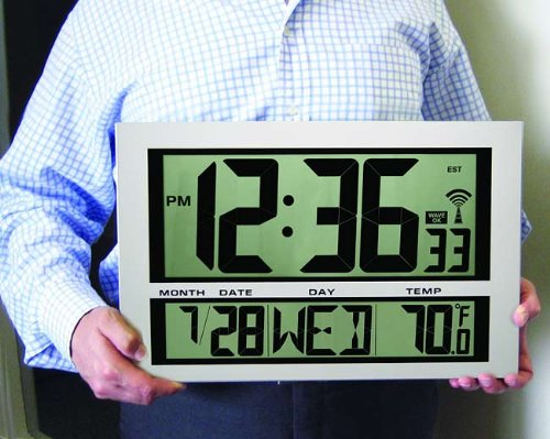 Digital Atomic Wall Clock Thermometer