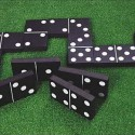 Giant Garden Black & White Dominoes