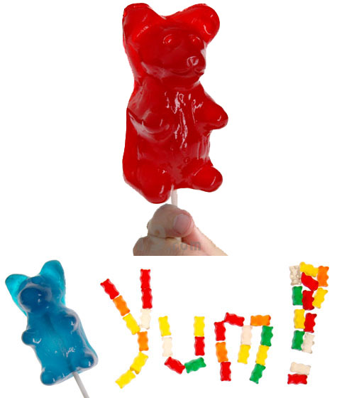 Giant Gummy Bear on a Stick