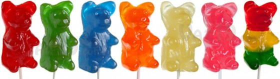 Giant Gummy Bears on a stick