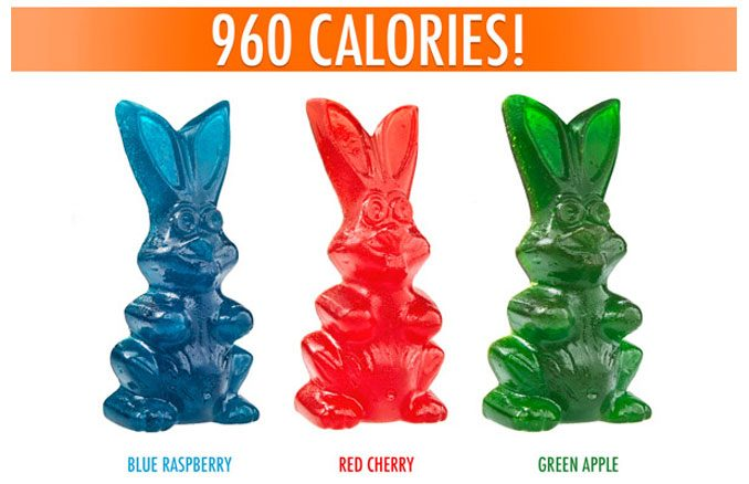 Giant Gummy Easter Bunny