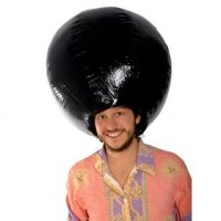 Giant Inflatable Afro Wig
