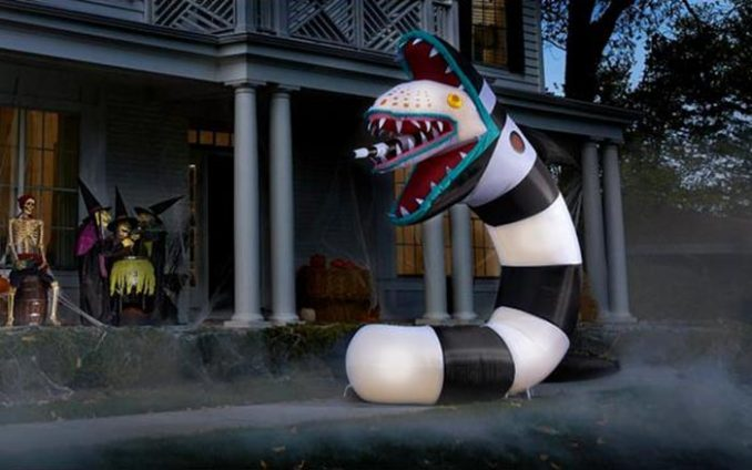 Giant Inflatable Animated Beetlejuice Sandworm