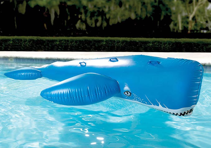 Giant Inflatable Blue Whale Pool Toy