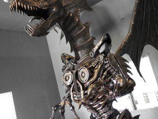 Giant Metal Steampunk Dragon