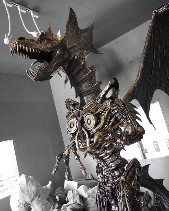 Giant Metal Steampunk Dragon