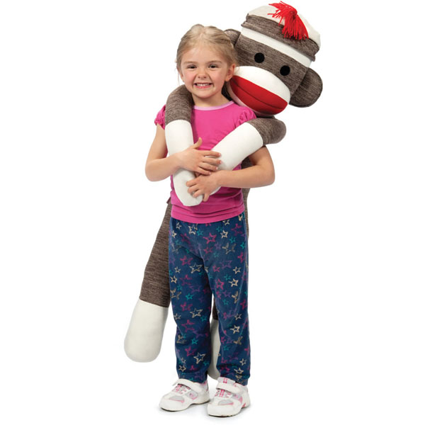 Giant Sock Monkey Toy