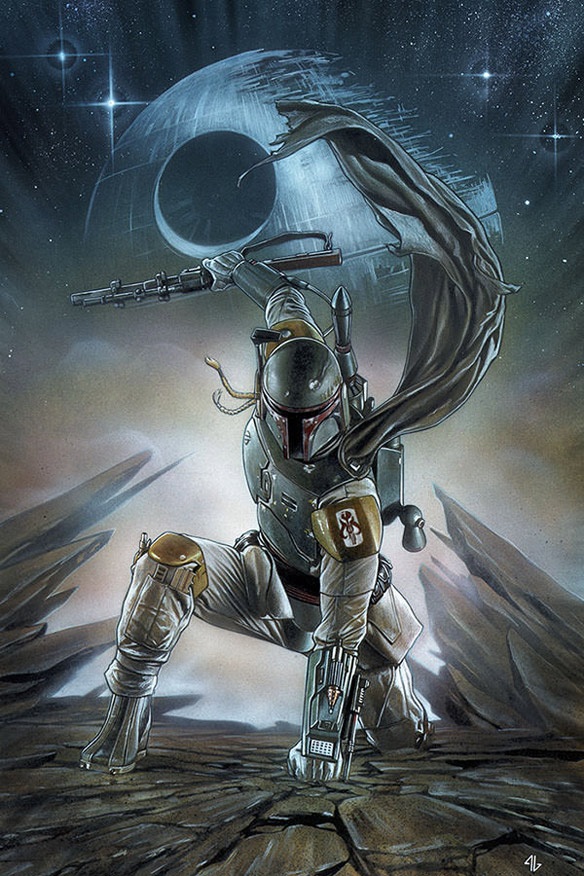 Giclee Print: Boba Fett (Adi Granov Signed Limited Edition)