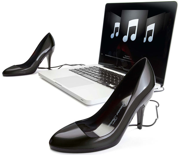 Gimme Tunes Stiletto Speaker Shoes