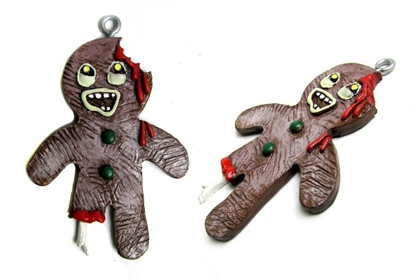 Gingerbread Zombie - Christmas Ornament