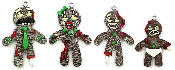 gingerbread zombie christmas ornaments - Gingerbread Christmas Decorations
