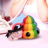 Glitter Galaxy Collectibles Rainbow Poop Emoji Mug