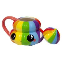 Glitter Galaxy Rainbow Poop Emoji Mug