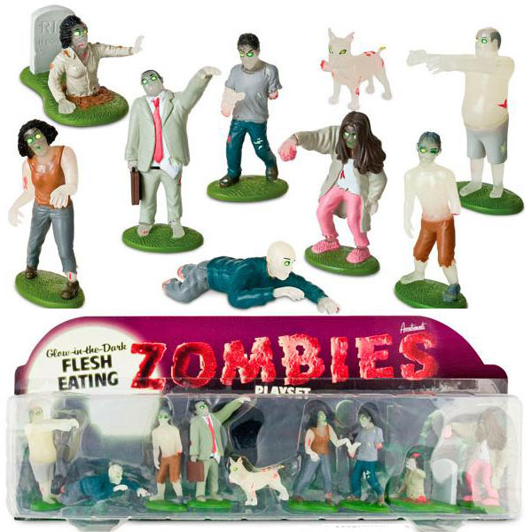 Glow-in-the-Dark Flesh Eating Zombies Play Set