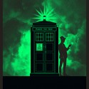 Glow in the Dark Mad Man in a Box Art Print - Glow