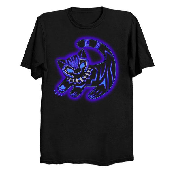 Glowing Black Panther King Shirt