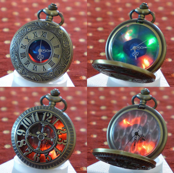 Glowing Steampunk Pocket Watches