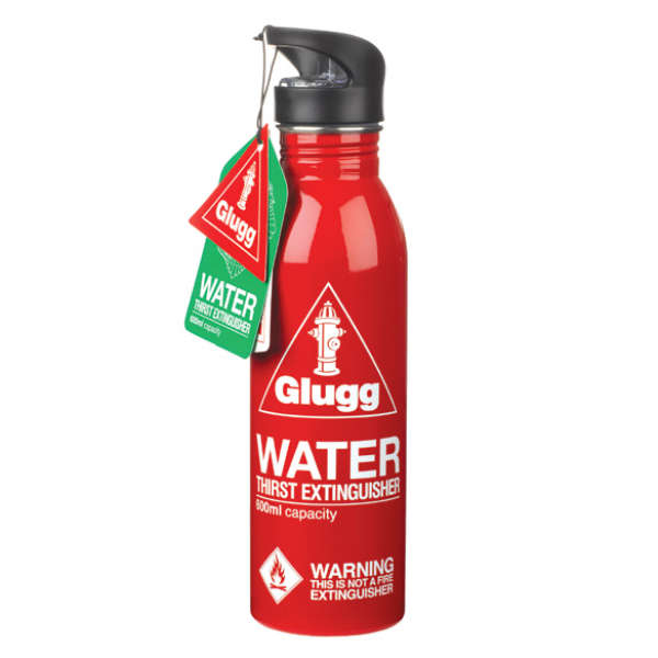 Glugg Fire Extinguisher Water Bottle