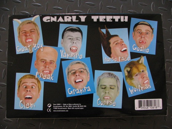 Gnarly Teeth Fake Dentures
