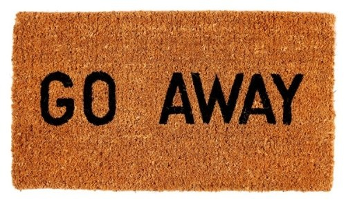 Go away doormat - Geeky welcome mats ...